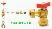 Integrated valve angle valve DN15 1 pm Miha