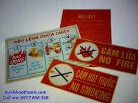 Tiêu lệnh Phòng cháy chữa cháy, nội quy PCCC, biển báo cấm lửa